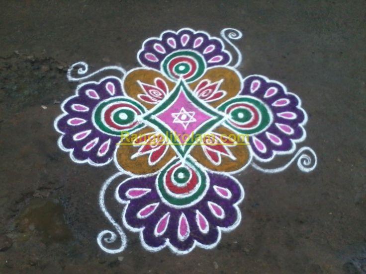 Rangoli Kolam | Colourful design kolam