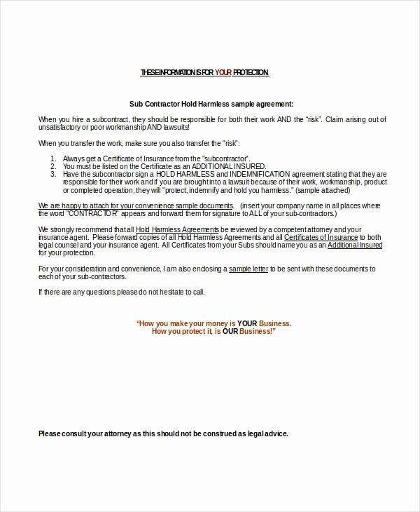 Hold Harmless Letter Template Lovely Hold Harmless Agreement Template Free Download Hold On Lettering Letter Writing Template