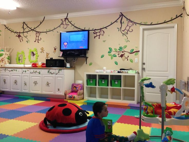 We converted our garage into this beautiful home daycare infant and toddler room home daycare - Daycare room design ...