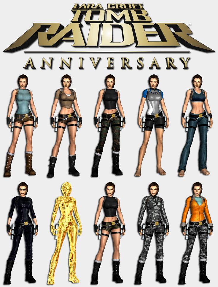 Lara Croft Anniversary Outfits | Tomb Raider Anniversary - Lara's outfits by HailSatana