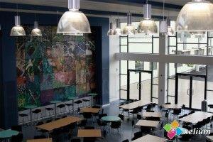 Cool artwork in school canteen