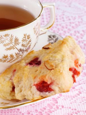 No Butter Raspberry Scones