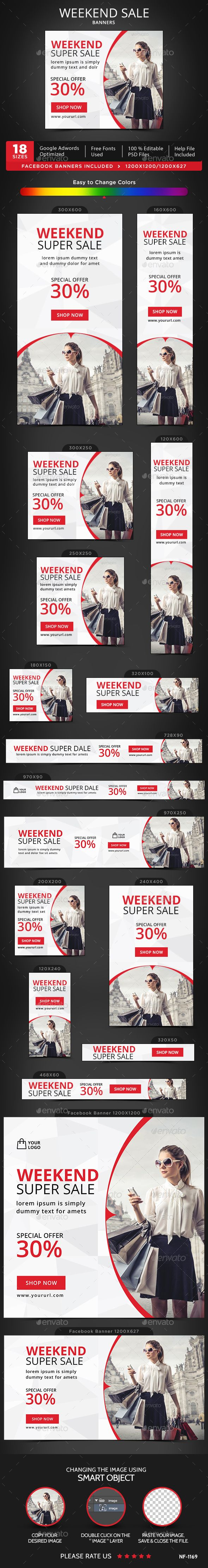Weekend Sale Banners Template PSD. Download here: http://graphicriver.net/item/weekend-sale-banners/15394508?ref=ksioks