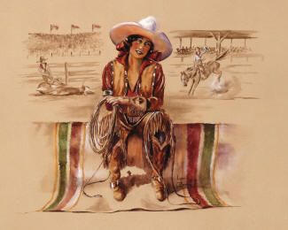 Lynn Brown.. cowgirl artist. Have her art in my bathroom..lovely...