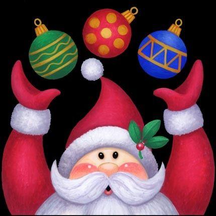 'Santa Ornaments Juggle' By Stephanie Stouffer