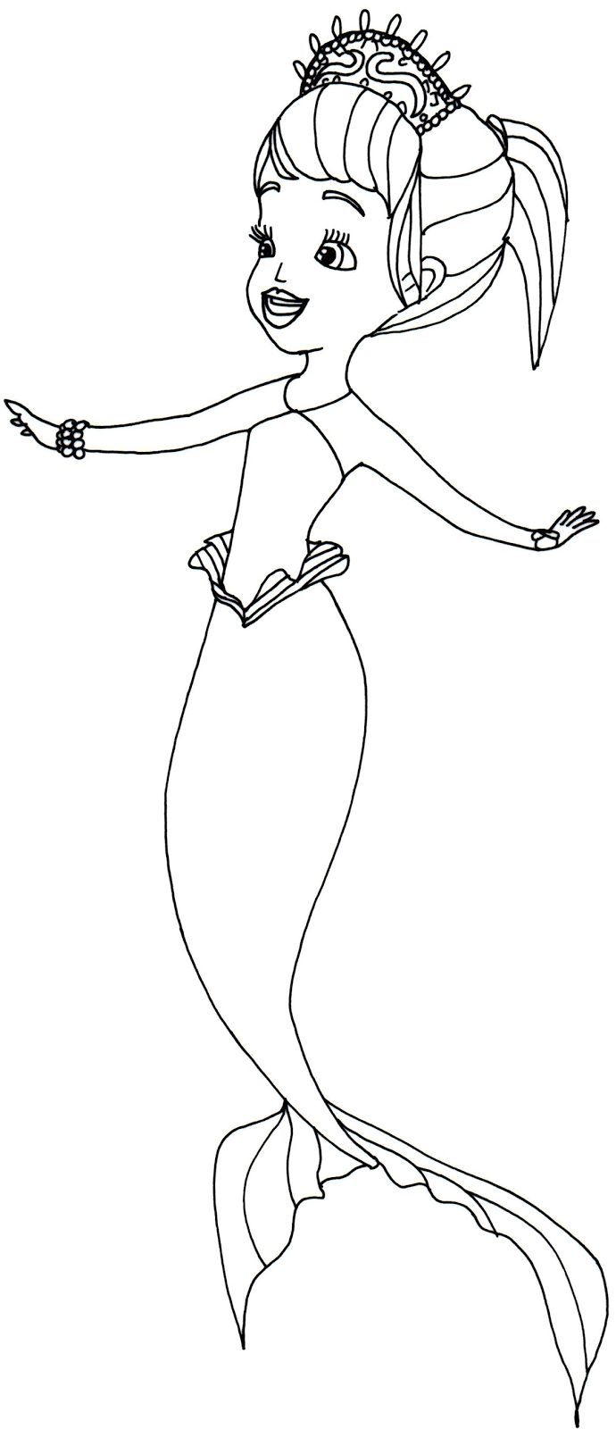 Princess hildegard coloring pages - Sofia The First Coloring Pages Oona