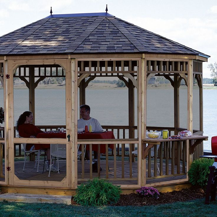 Features:  -Includes self-closing hinges and door latch.  -Provides protection from pesky insects.  -Cedar framed panels with black fiberglass screen.  -Gazebo and floor not included.  -Screen door wi