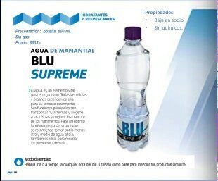 productos omnilife: BLU SUPREME (agua de Manantial)