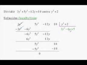 Pesquisa Formas de dividir polinomios. Vistas 64639.
