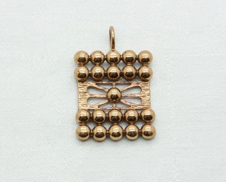 Pertti Peuri (FI), vintage modernist bronze pendant, 1960s. #finland | finlandjewelry.com #forsale