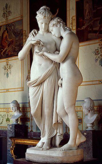 CUPIDO Y PSIQUE (1808). Dde Antonio Canova (1757-1822). Formó parte de la colección de la emperatriz Josefina en Malmaison, 1815.