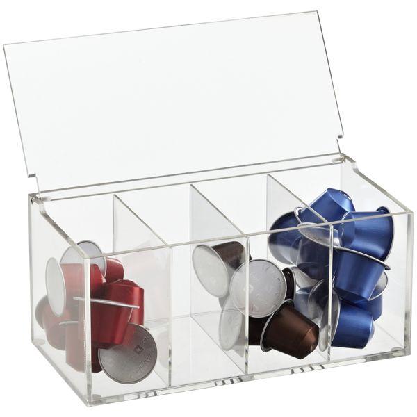 Capsule box for nespresso organize pinterest - Distributeur de capsule nespresso ...