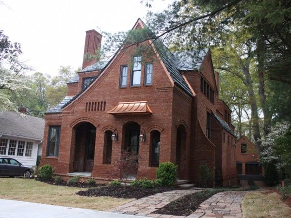 Decatur avondale estates ga local designer and builder clay chapman finished work on a new tudor revival house in the mak historic district