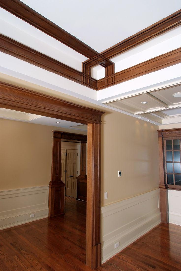Panel quarter sawn white oak interior door craftsman interior doors - Custom Quartersawn White Oak Ceiling Moulding And Door Casing Hardwood Mouldings Pinterest Door Casing Moldings And White Oak