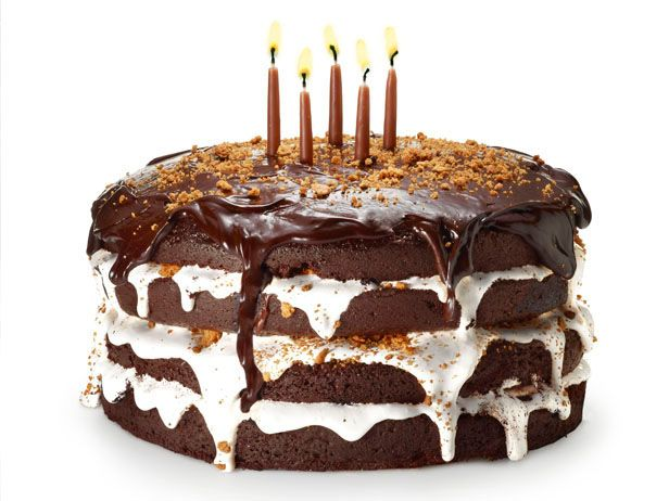 Birthday cake of the month for August from #FNMag: S'mores Cake