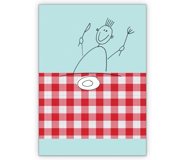 Lustige Essens Einladungskarte