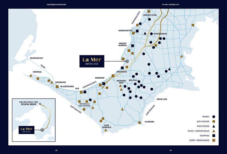 La Mer, Martha Cove - Brochure Amenity Map by Small & Co