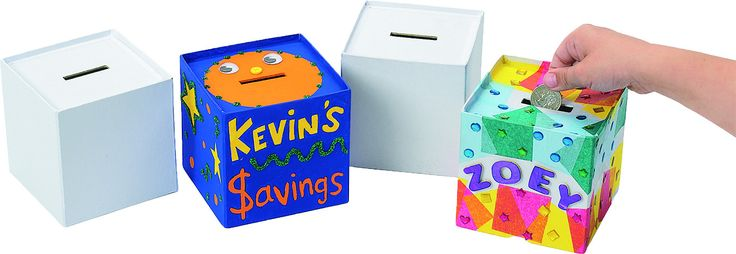 Money Box to be personalized 12pc set from Spectrum Educational Ltd