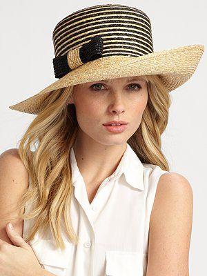 straw & black summer hat