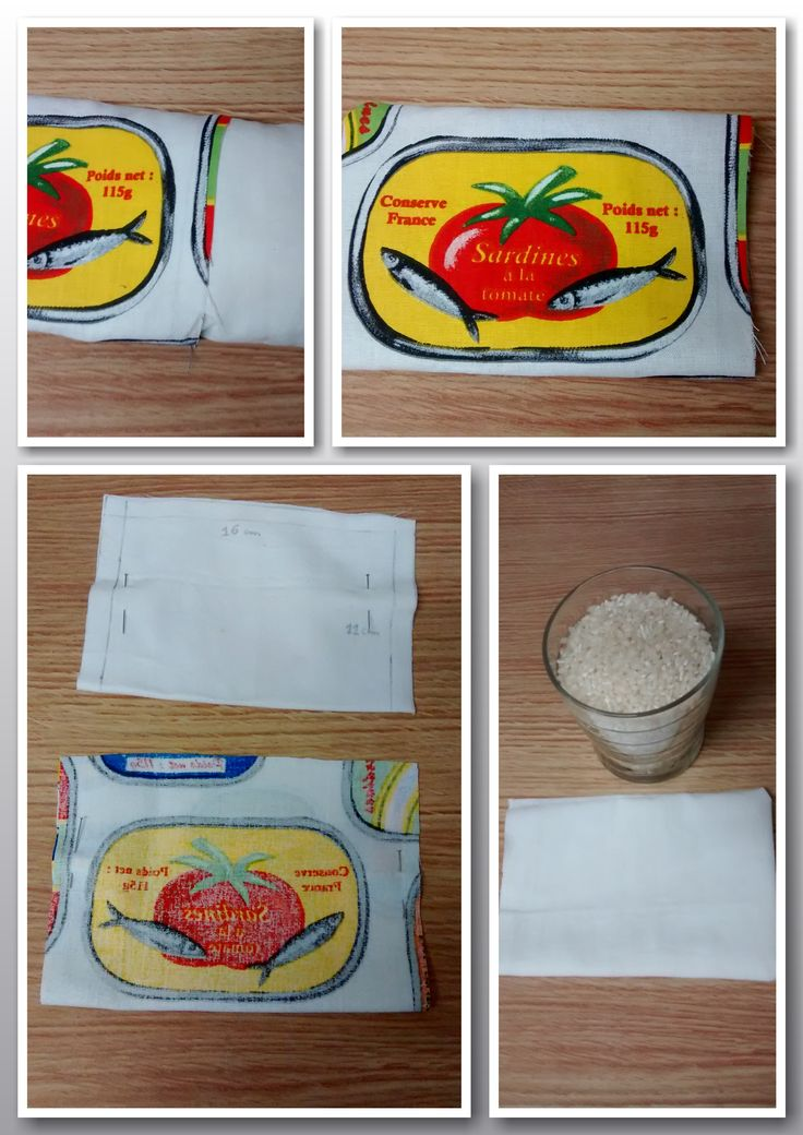 Saco térmico relleno de arroz hecho a mano