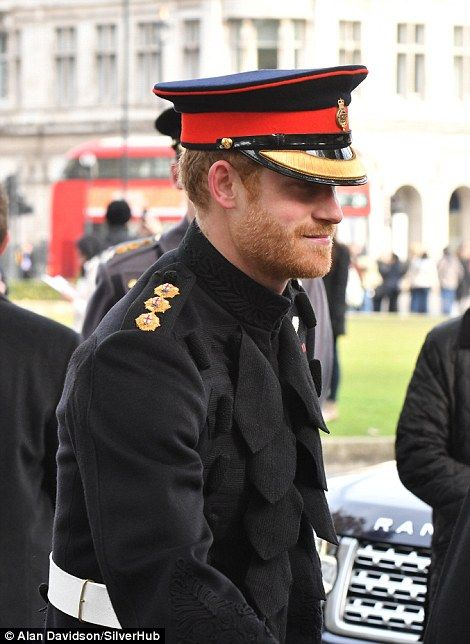 The royal, 32, who confirmed on Tuesday that he's dating the US actress, joined his grandfather, The Duke of Edinburgh, on a visit to the Field of Remembrance at Westminster Abbey.