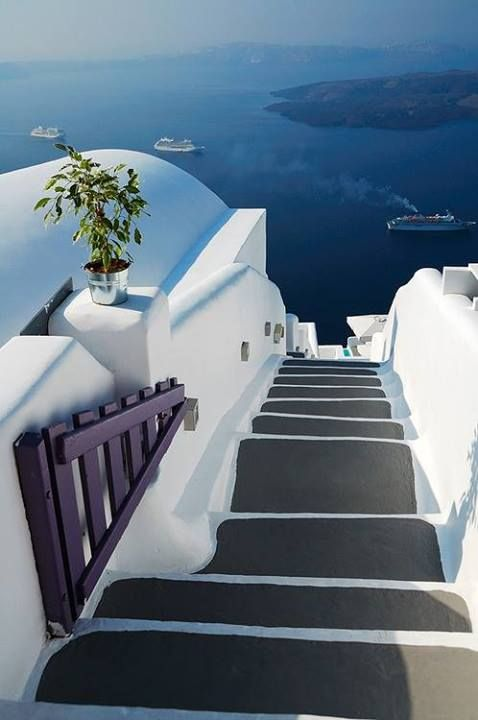 Santorini. There is something fascinating about white and blue nuances of Cyclades Islands.