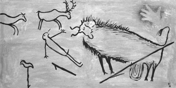 #abstract #animal #art #cave #cave paintings #drawing #history #image #interior design #lascaux #modeled after #modern art #mural #painting #stone age #stylish