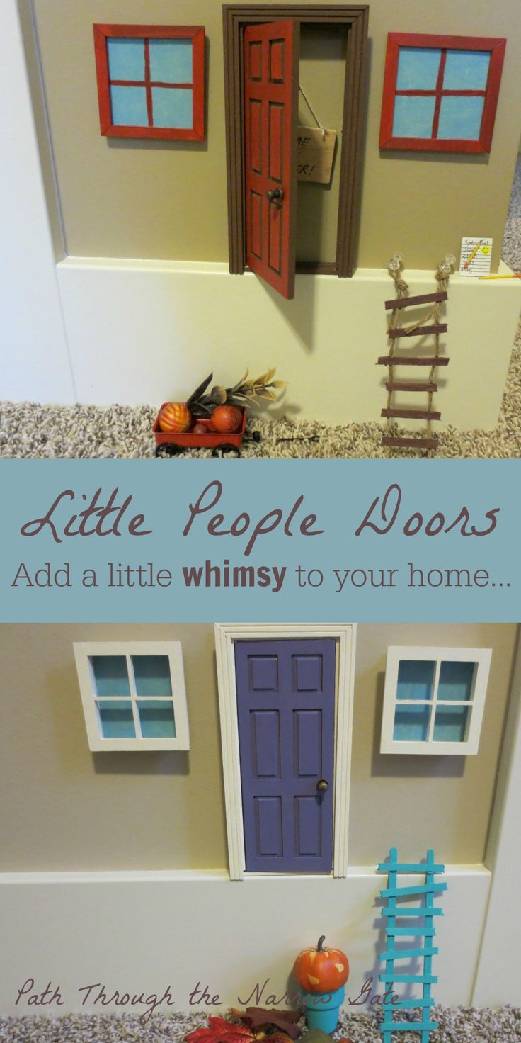 Add a little Whimsy to your home - Little People Doors! (You can even make the windows glow in the dark!)