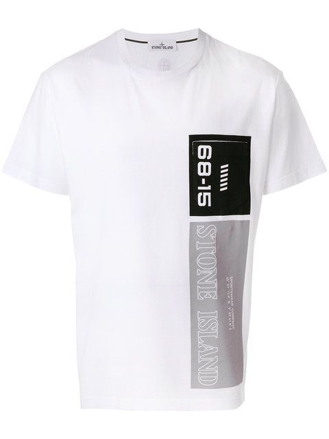 Shop Stone Island logo print T-shirt.
