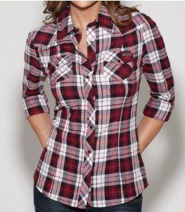 G by GUESS Women's Fawn Long-Sleeve Plaid Shirt