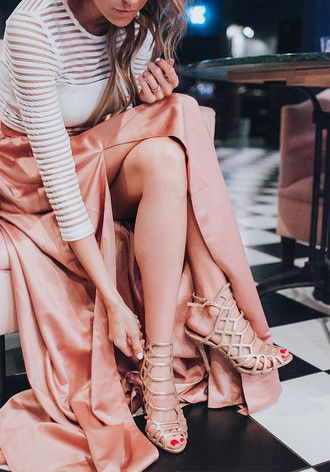 hello fashion blogger elegant party outfits new year's eve slit skirt party shoes gold shoes