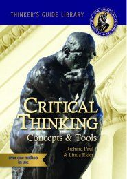 Paul, R. and L. Elder (2014). [e-Book] The Miniature Guide to Critical Thinking Concepts & Tools, Foundation for Critical Thinking, 2008. Texto completo  El pensamiento crítico es un proc…