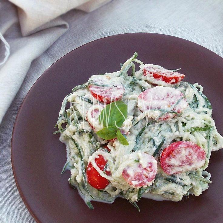 Спагетти из огурца с помидорами черри - Сыроедение, рецепты и диеты - Rawsay