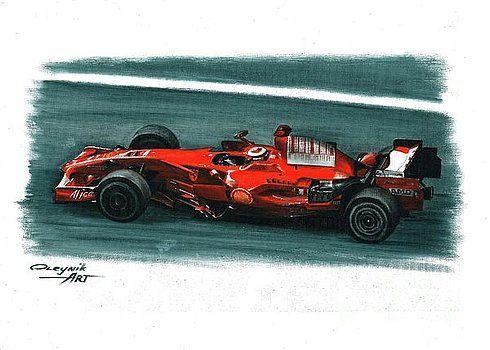 2008 Ferrari F2008 by Artem Oleynik