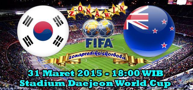 Prediksi Korea Selatan vs Selandia Baru 31 Maret 2015