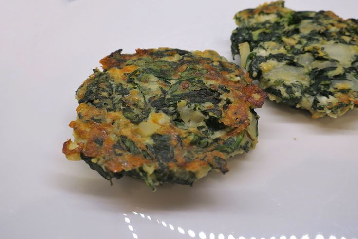 Healthy protein spinach patties!
