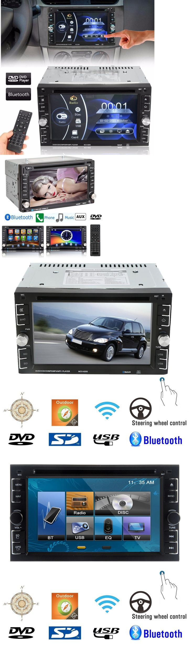 Vehicle electronics and gps bluetooth car stereo dvd cd player 6 2 double 2din radio in