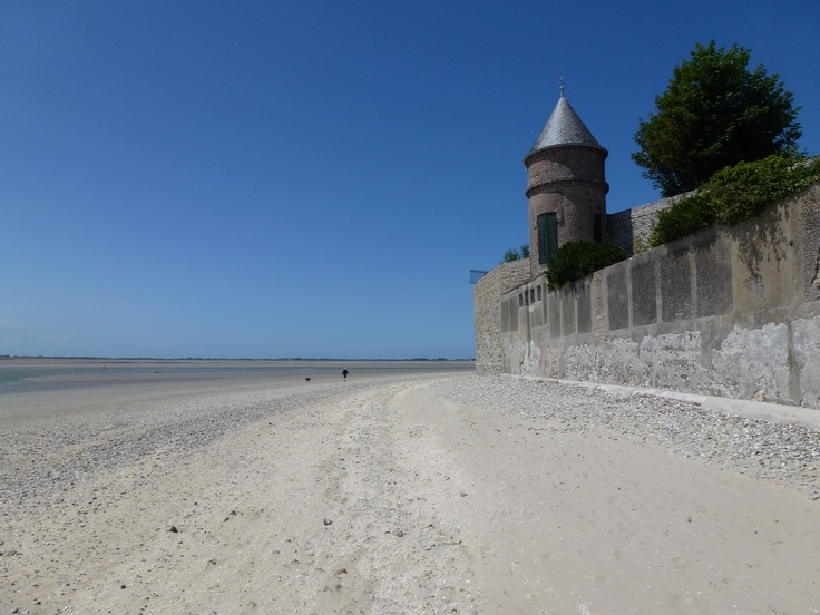 Le Crotoy at the 'Baie de Somme'. Twice a day the sea retreats many kilometers...