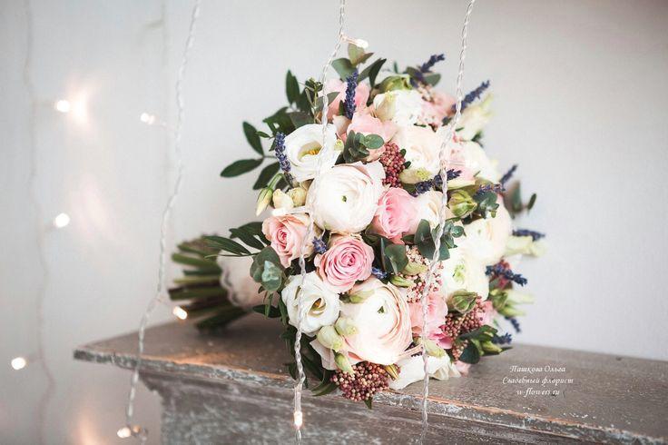 Букет невесты с ранункулюсами и лавандой #букетневесты #букет #невеста