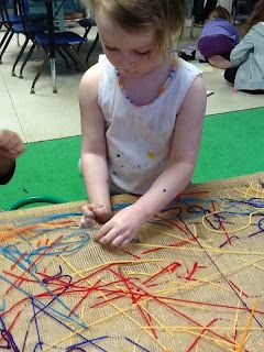 Sewing is a great activity to do with young children to develop their fine motor abilities. I have a low table in the classroom with ...