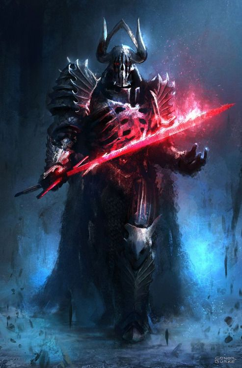 A medieval, fantasy style Darth Vader