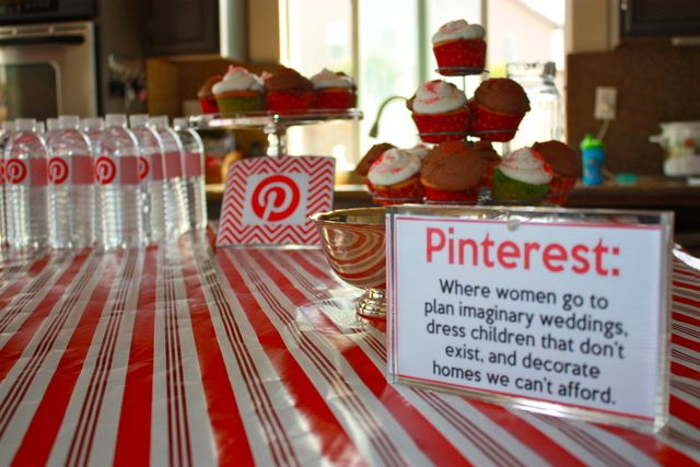 """LOVE THIS!!!! This would be amazing for a December Craft Night!!!! A """"Holiday Pinterest Party!"""" It's a Christmas Party that has a bunch of different craft stations that were influenced by Pinterest! Wine bottle decorating, create an ornament, Mod Podge photos onto wood... The choices are endless!!! I am so doing this someday!!!"""