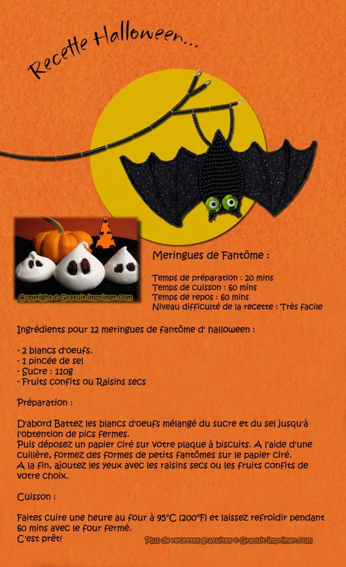 halloween desserts menu