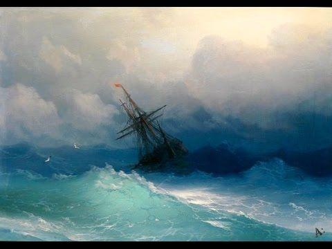 """""""Mer. Tempête. Phare"""" Apprenez à peindre la mer et vagues a l'huile ou a l'acrylique. Paysage marin - YouTube"""