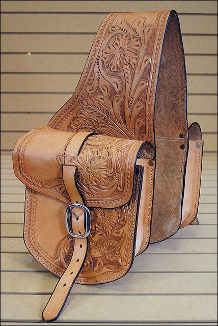 BH103F- HILASON WESTERN LEATHER COWBOY TRAIL RIDE HORSE SADDLE BAG #Hilason