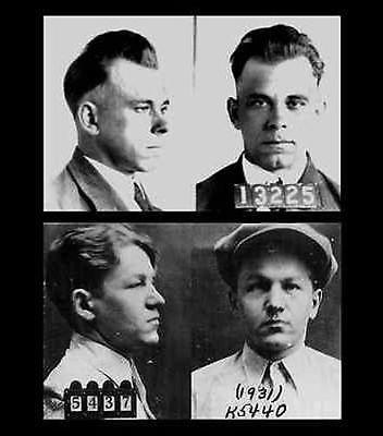John Dillinger+Baby Face Nelson Mug Shot