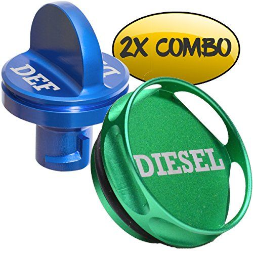 COMBO PACK - Magnetic Diesel Fuel Cap + DEF Cap Accessory for Dodge RAM TRUCK 1500 2500 3500 (2013-2018) with 6.7 CUMMINS EcoDiesel, NEW Easy Grip Design. For product info go to:  https://www.caraccessoriesonlinemarket.com/combo-pack-magnetic-diesel-fuel-cap-def-cap-accessory-for-dodge-ram-truck-1500-2500-3500-2013-2018-with-6-7-cummins-ecodiesel-new-easy-grip-design/