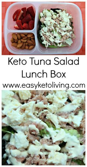 Keto Tuna Salad Lunch Box - Easy Low Carb Lunch Box Idea for work or on the go.