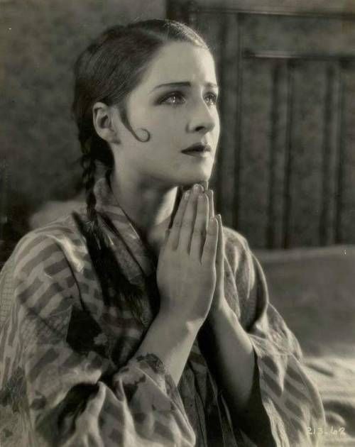"""Norma Shearer in """"Lady of the Night"""" (Monta Bell, 1925)."""