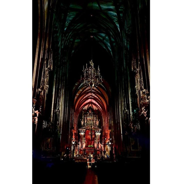 Otherworldly beauty at a place of prayer. #stefansdom . . . #cathedral #gothic #church #vienna #wien #vacation #worldtraveller #globetrotter #travelphotography #traveling #decemberbreak #eerie #lights #redlight